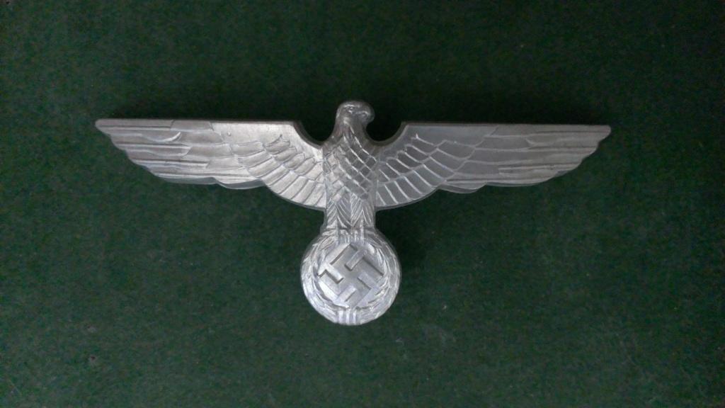 Aigles metalliques et cocardes de casquettes Heer WW2 - Authentification et prix Wp_20129