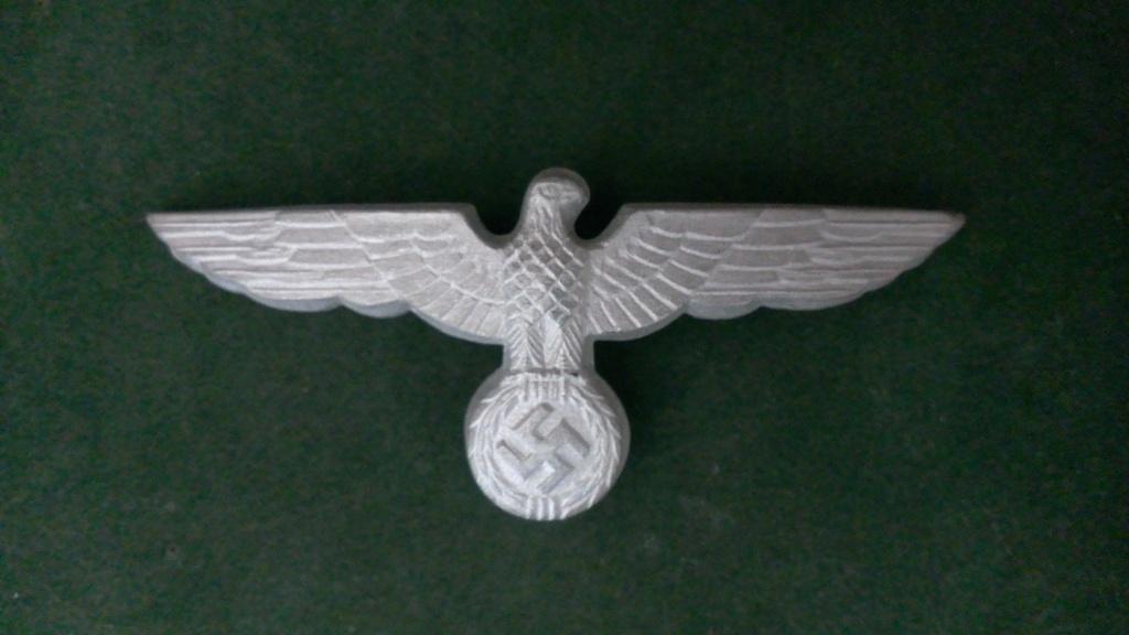 Aigles metalliques et cocardes de casquettes Heer WW2 - Authentification et prix Wp_20131