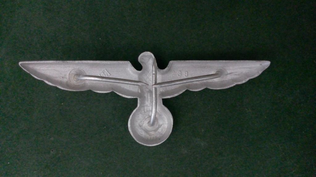 Aigles metalliques et cocardes de casquettes Heer WW2 - Authentification et prix Wp_20132
