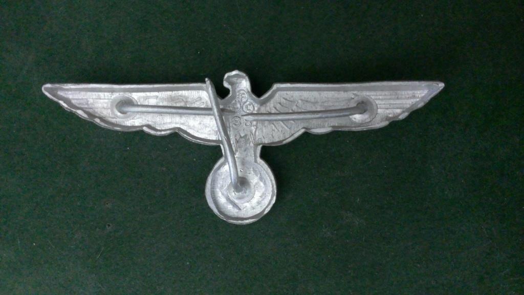 Aigles metalliques et cocardes de casquettes Heer WW2 - Authentification et prix Wp_20133