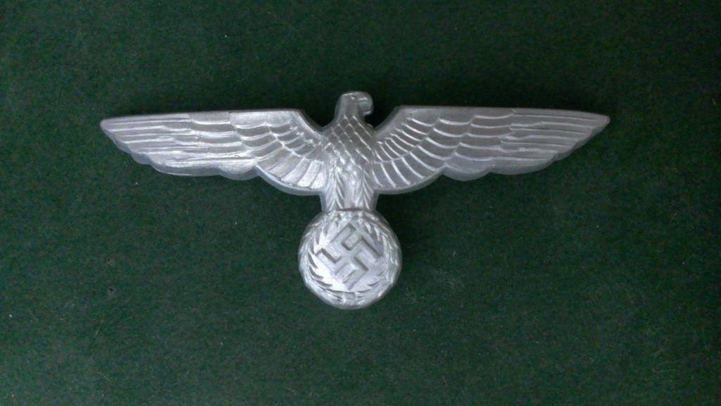 Aigles metalliques et cocardes de casquettes Heer WW2 - Authentification et prix Wp_20134