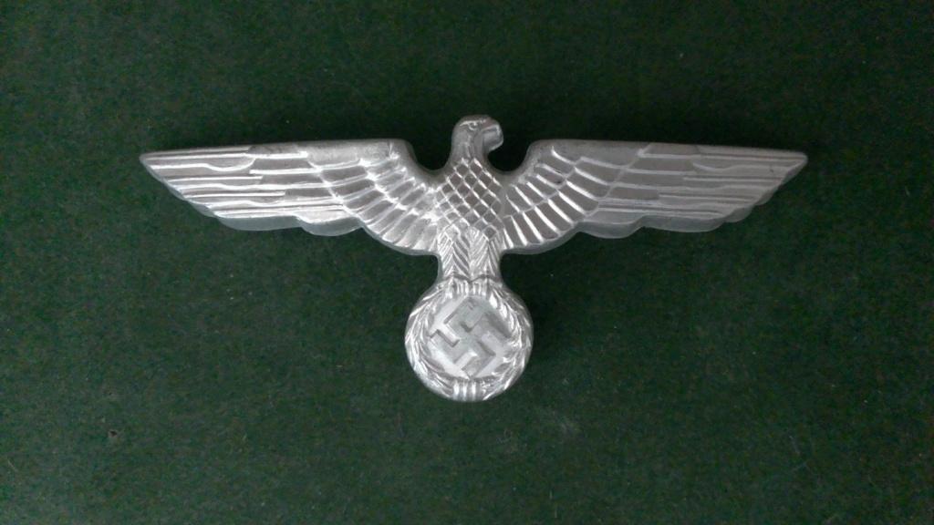 Aigles metalliques et cocardes de casquettes Heer WW2 - Authentification et prix Wp_20138