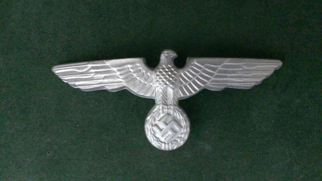 Aigles metalliques et cocardes de casquettes Heer WW2 - Authentification et prix Wp_20139