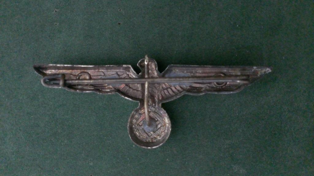 Aigles metalliques et cocardes de casquettes Heer WW2 - Authentification et prix Wp_20142