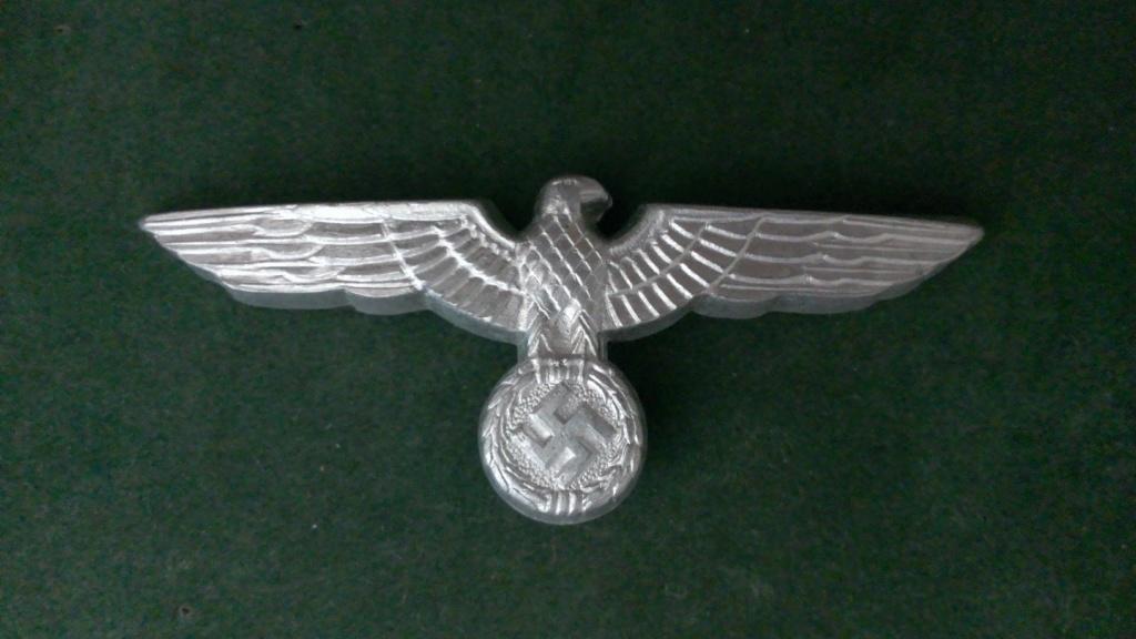 Aigles metalliques et cocardes de casquettes Heer WW2 - Authentification et prix Wp_20144