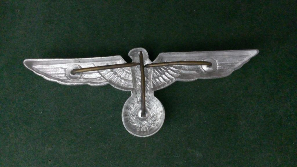 Aigles metalliques et cocardes de casquettes Heer WW2 - Authentification et prix Wp_20145