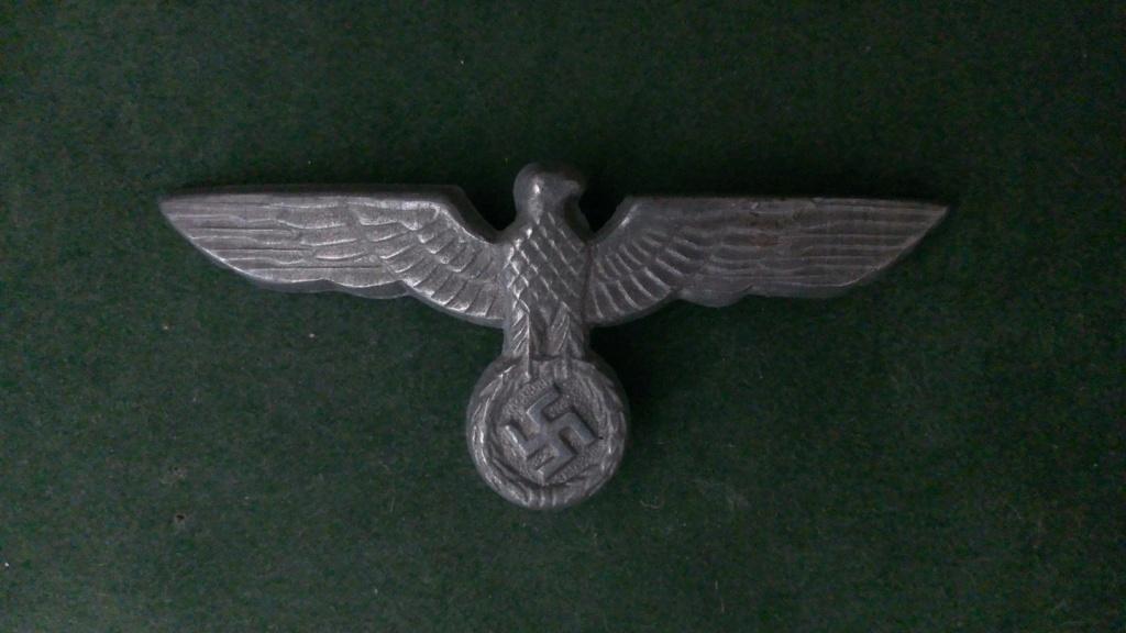 Aigles metalliques et cocardes de casquettes Heer WW2 - Authentification et prix Wp_20146