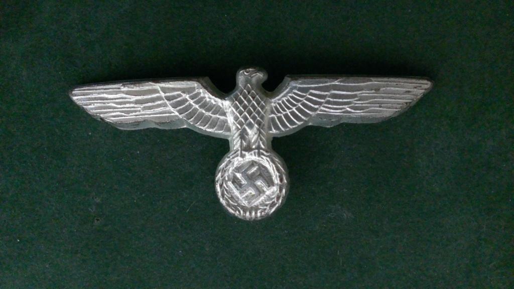 Aigles metalliques et cocardes de casquettes Heer WW2 - Authentification et prix Wp_20148
