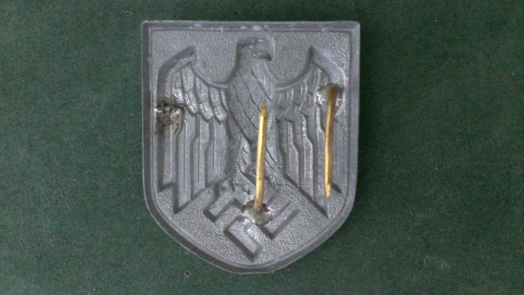 Aigles metalliques et cocardes de casquettes Heer WW2 - Authentification et prix Wp_20156