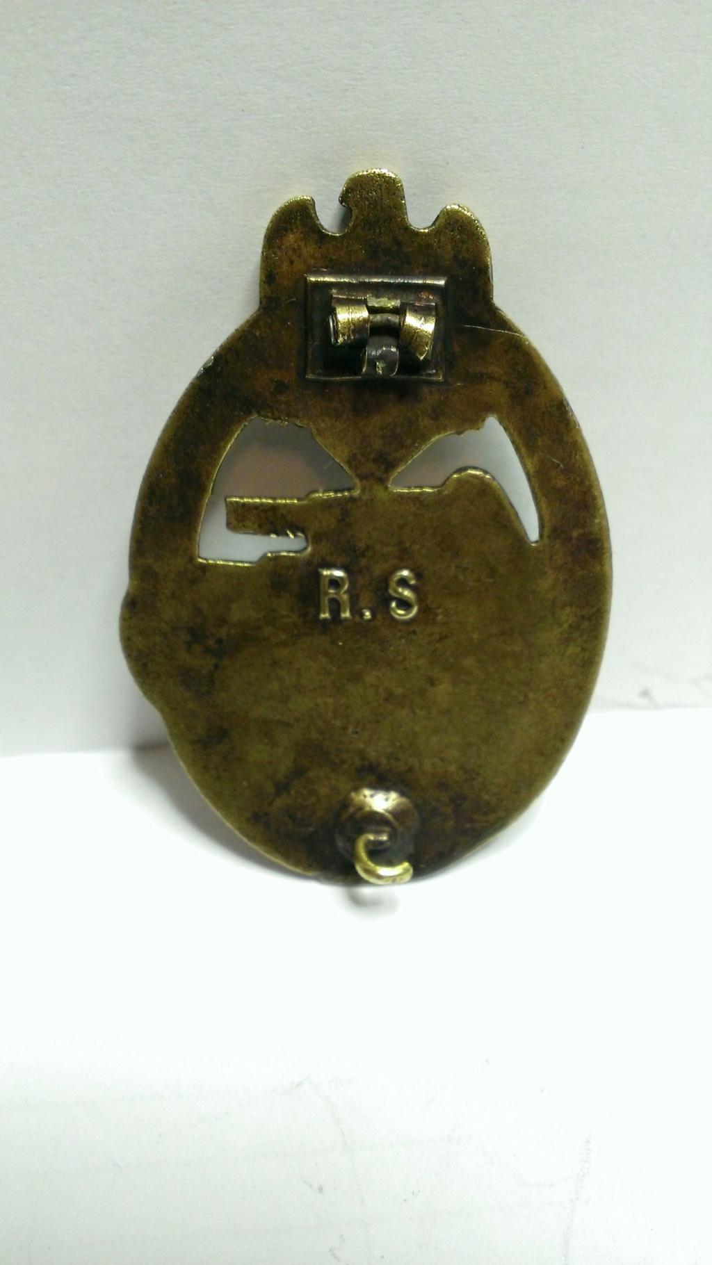 Panzerkampfabzeichen bronze Rodolf SOUVAL Wp_20298