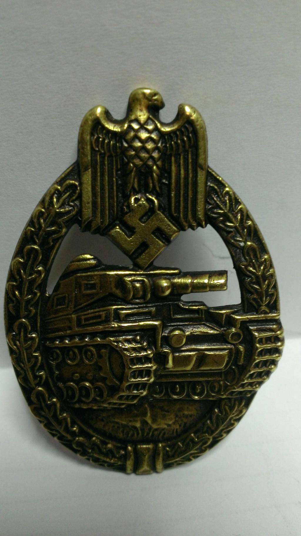 Panzerkampfabzeichen bronze Rodolf SOUVAL Wp_20299