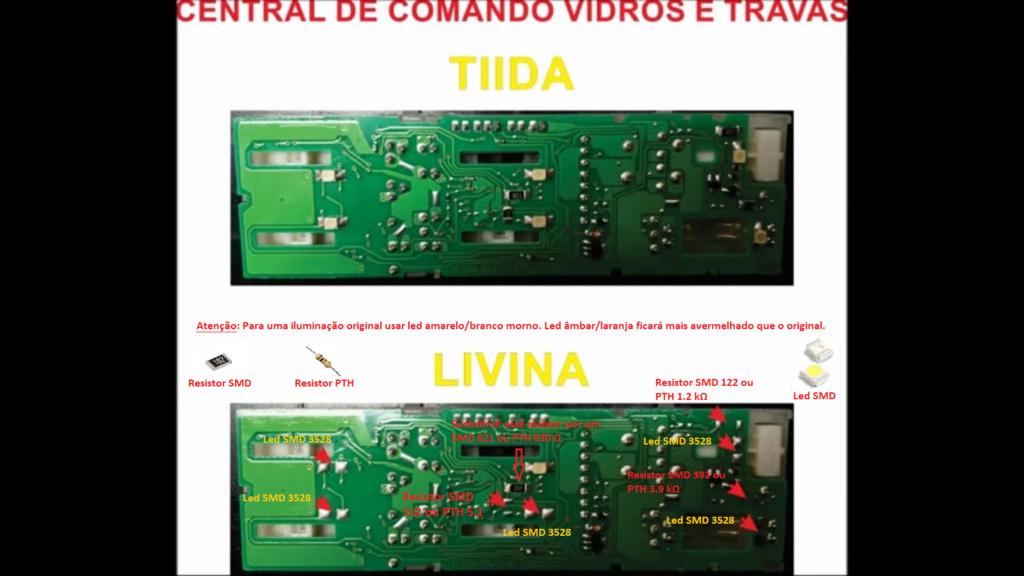 Iluminação Comando dos Vidros Livina Esquem10