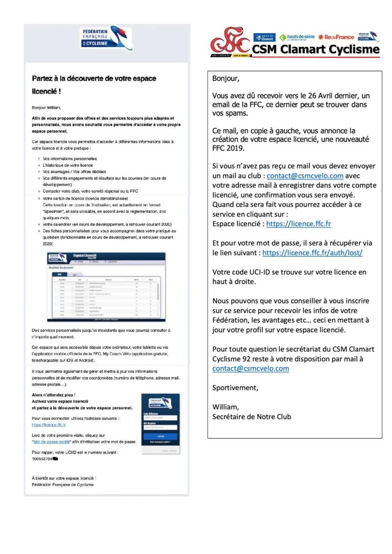 Accès et création Espace Licencié FFC Crzoat10