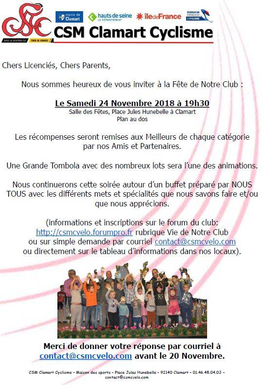 Fête de notre Club Samedi 24 Novembre 2018 - Invitation, Organisation et inscription P3_b10