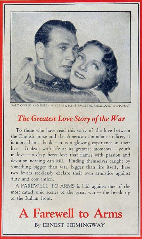 1932 - l'adieu aux armes Heming10