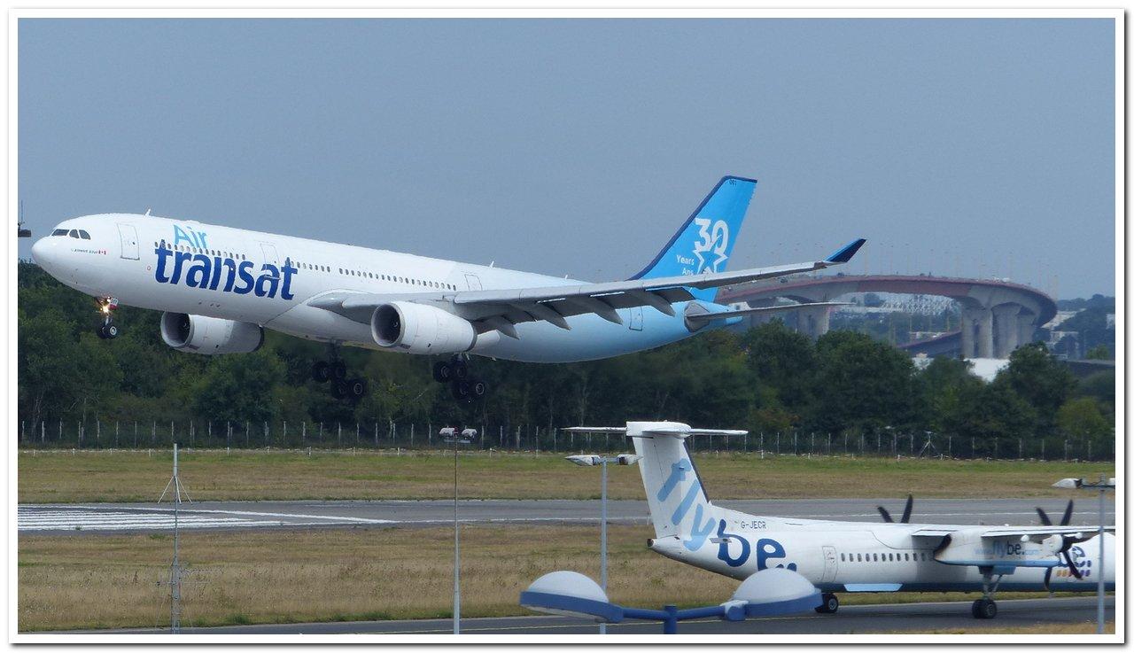 """[07/08/2018] Airbus A330 (C-GKTS] Air Transat livrée """"30ans"""" P1260811"""