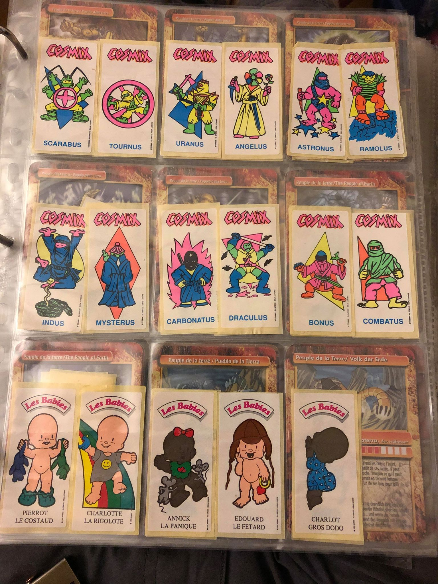 Stickers chewing-gum May : CDZ Cosmix Alf TMNT terminator etc Macoll13