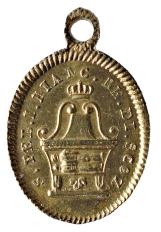 Medalla  de San Peregrino y San Blanco, rey de Escocia. Dsc_4210