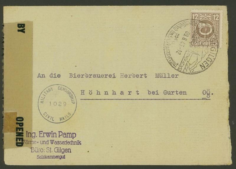 Posthornzeichnung  -  ANK 697-713  -  Belege Ank_7010