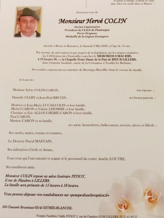 Décés Hervé Colin  20200510