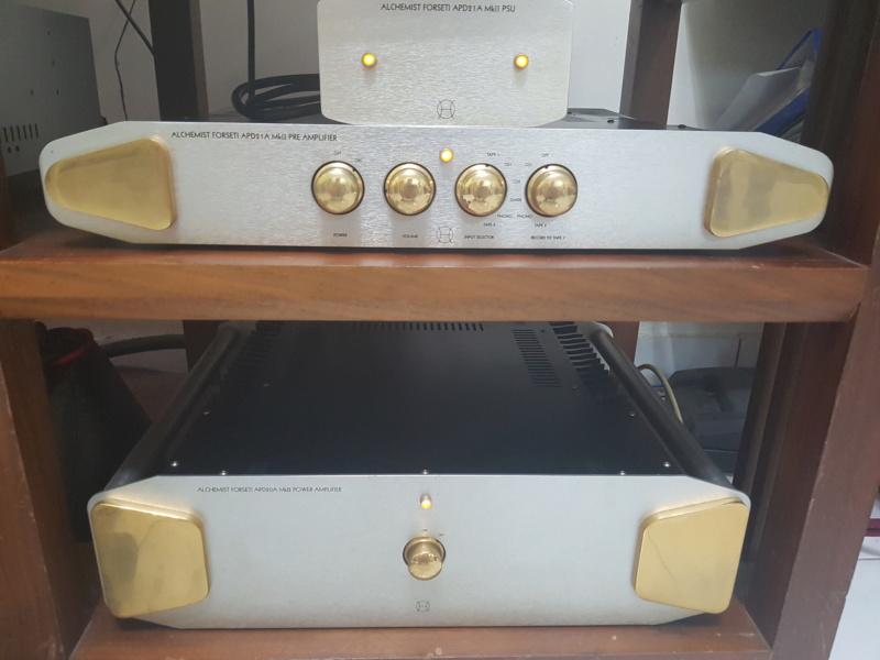 Alchemist Forseti APD 21A mk2 & APD 20A Mk2 Pre &Power amp (Used) 20190811