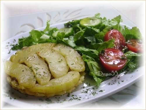 Tartelette tatin pommes foie gras Pict6311