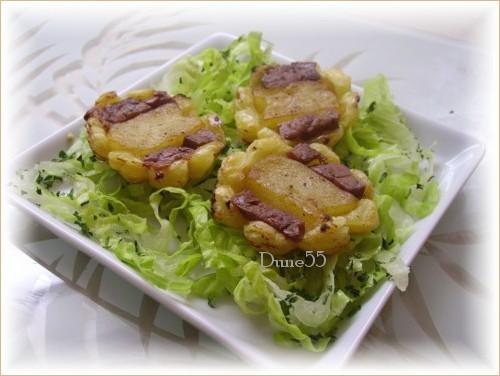 Tartelette tatin pommes foie gras Pict6312