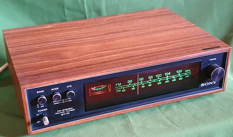 Sony ST-70 FM/AM stereo tuner (used) SOLD 20210310