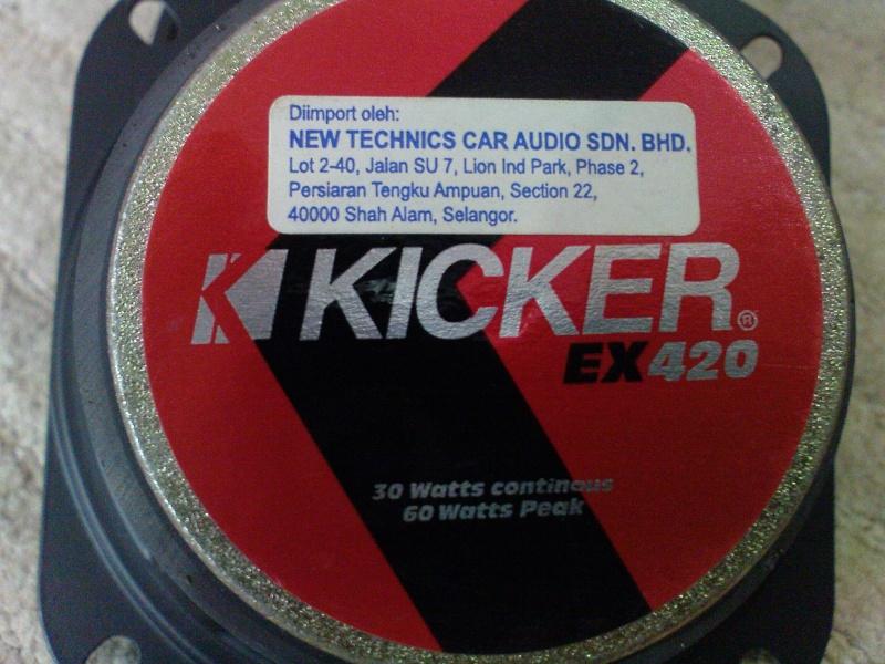 Kicker EX420 midrange speakers (Used) Dsc02328