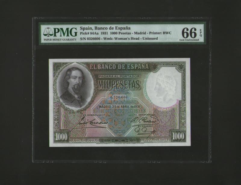 1000 Pesetas Jose Zorrilla precios y estimaciones  2010