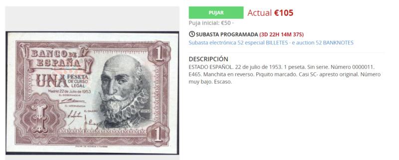Cálculo de Precios de Números Bajos - 1 Peseta 1953 55314c10