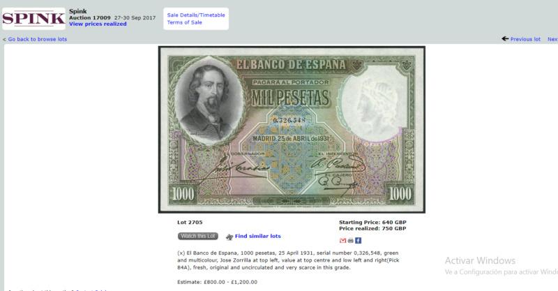 1000 Pesetas Jose Zorrilla precios y estimaciones  5e870c11
