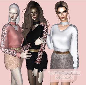 Повседневная одежда (топы, блузы, рубашки) - Страница 10 Uten_300