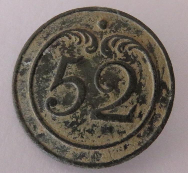 Bouton du 52 régiment d'infanterie de ligne, période 1803-1814 Img_1510