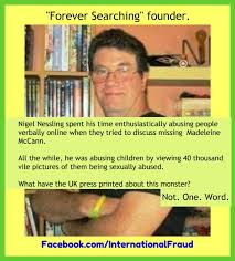 REFERENCES TO PAEDOPHILIA IN RELATION TO THE DISAPPEARANCE OF MADELEINE MCCANN Nessli10