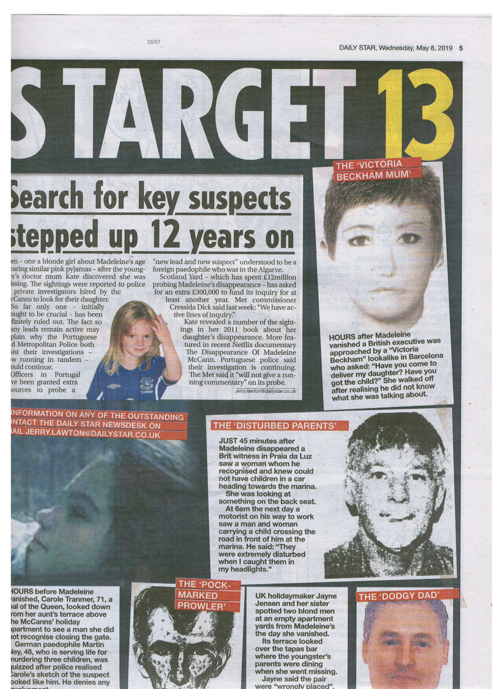 ***NEW! 8 May 2019*** Daily Star says there's THIRTEEN SUSPECTS (The Daily Star:  Madeleine McCann case 'closer to being SOLVED' by Portuguese police) - Page 2 Star_m17