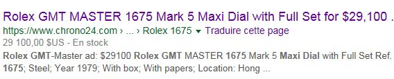 Montre vendue à regret pour projet autre - Rare Rolex GMT 1675 Maxi Dial - Boîte - Papier Expert Rolex reconnu- Possible échange étudie proposition équitable seulement sur Rolex Daytona acier ou Patek Philippe Ebay_210