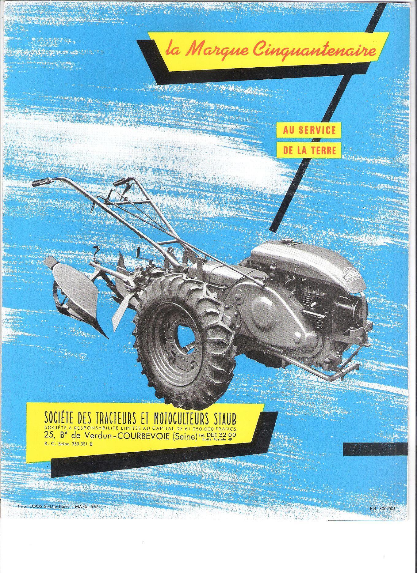 Notices Motoculture: Agria, Bernard, Bouyer, Ferrari, Goldoni, Honda, Kubota, Lombardini, Motostandard, Staub, Wolf ... 96342910