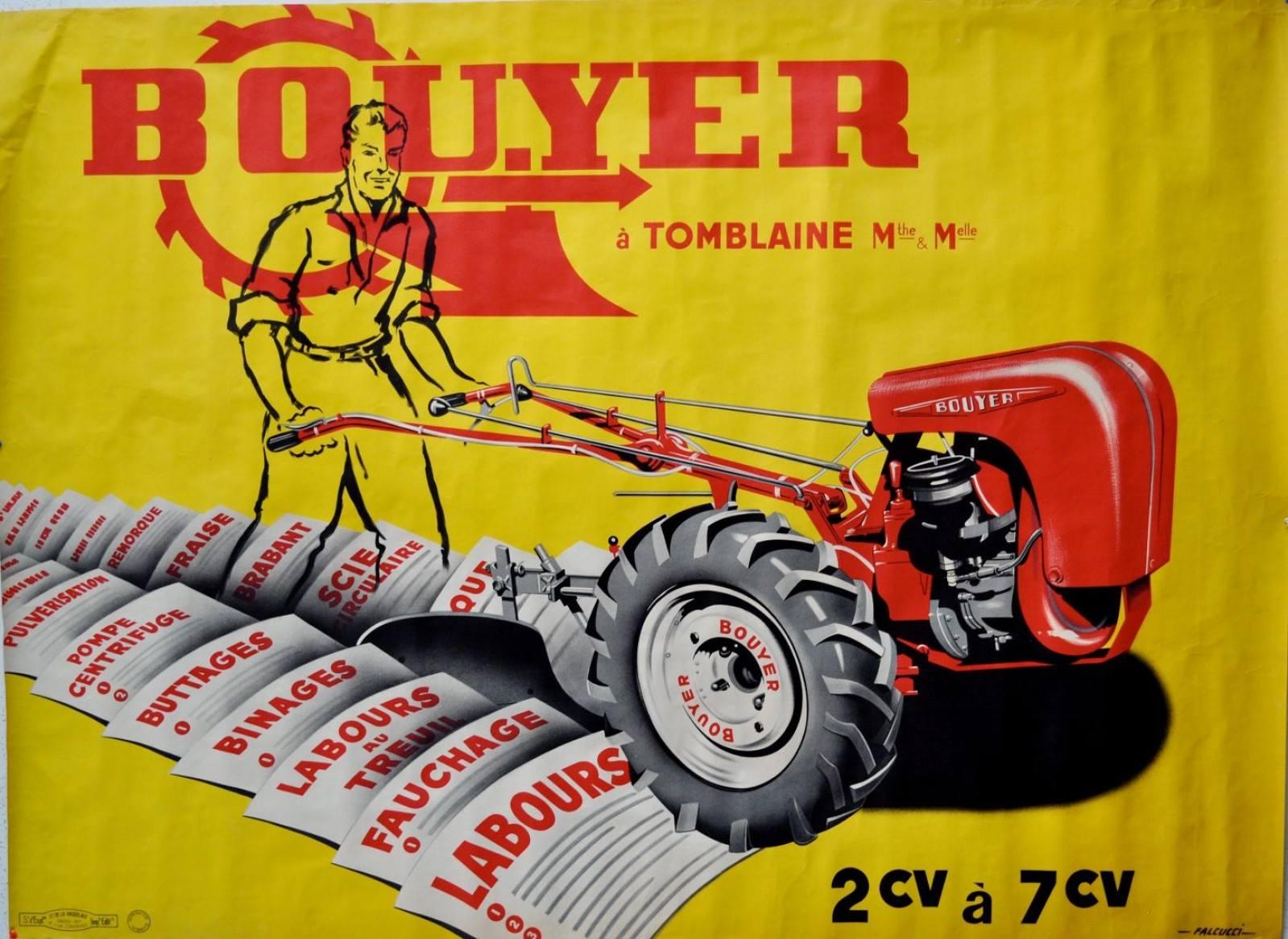Notices Motoculture: Agria, Bernard, Bouyer, Ferrari, Goldoni, Honda, Kubota, Lombardini, Motostandard, Staub, Wolf ... Bouyer10