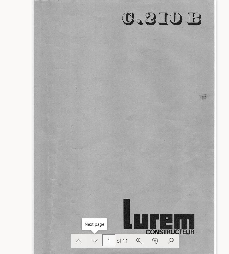 Lurem C 200 junior, C 200, C 210, C 210 b,  C 260 + C 260E & C 310E Hm15