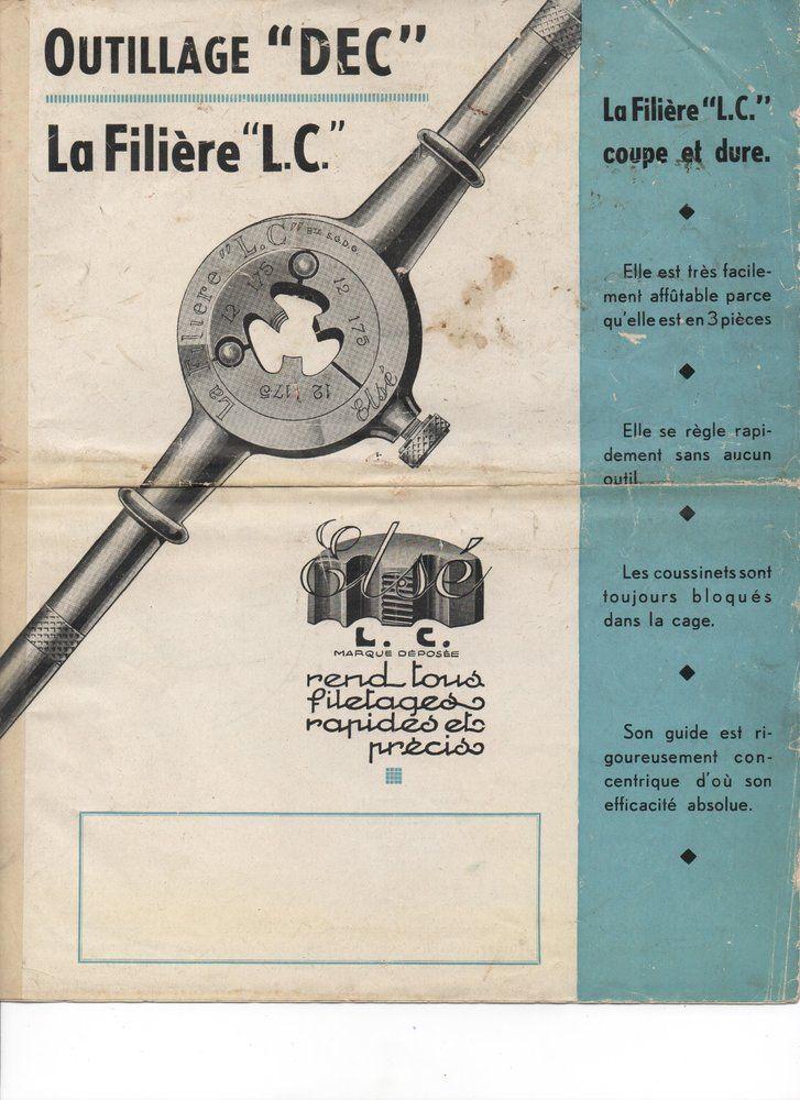 Filière Outillage DEC type L.C Lc110
