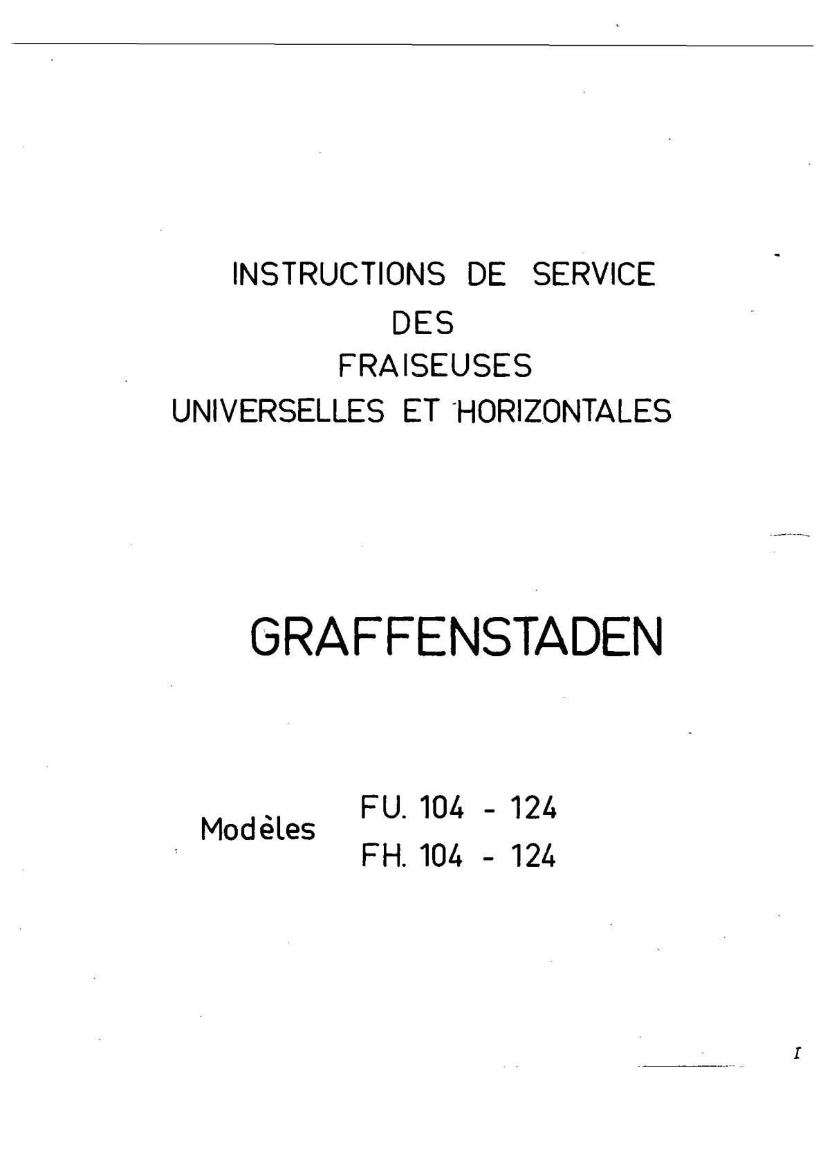 lubrification graffenstaden fh 104  Uw1133