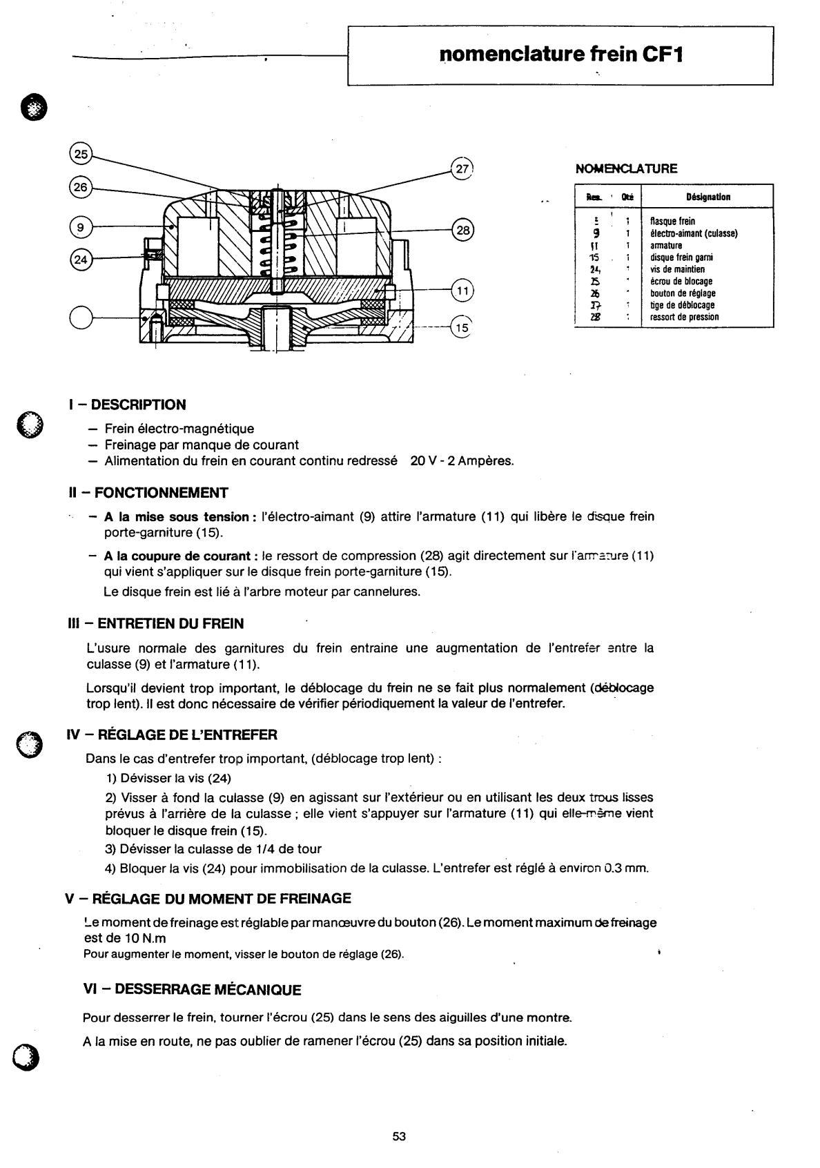 Moteur-frein Leroy Somer FCO-FCL-FCM + Frein CF1 Uw1156