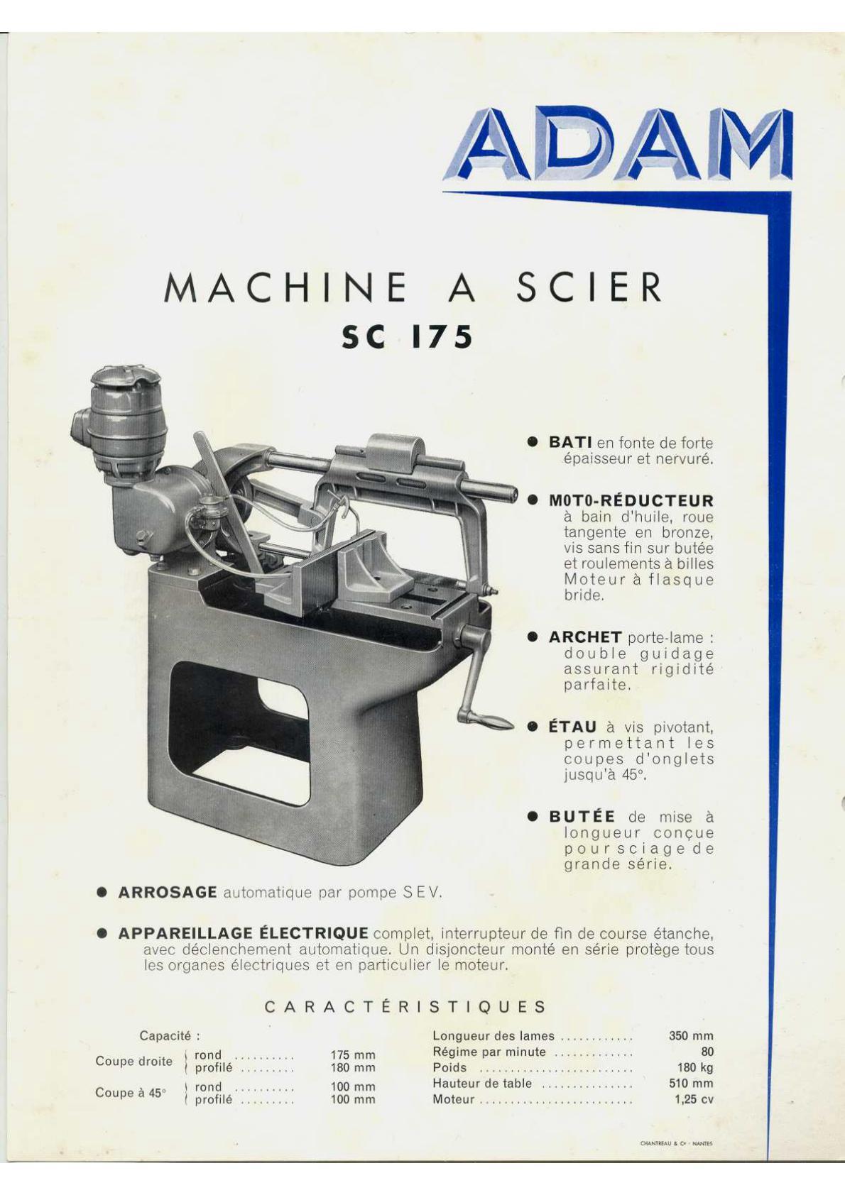 Adam SC 175 scie alternative Uw135