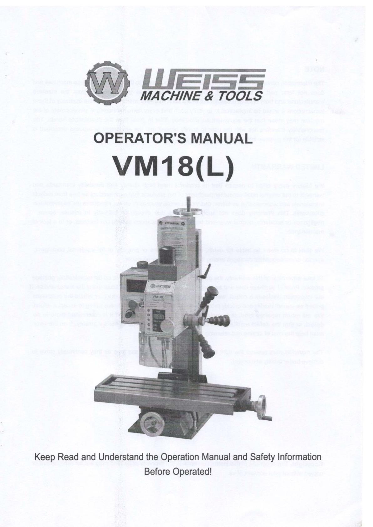 Weiss VM18(L) Uw165