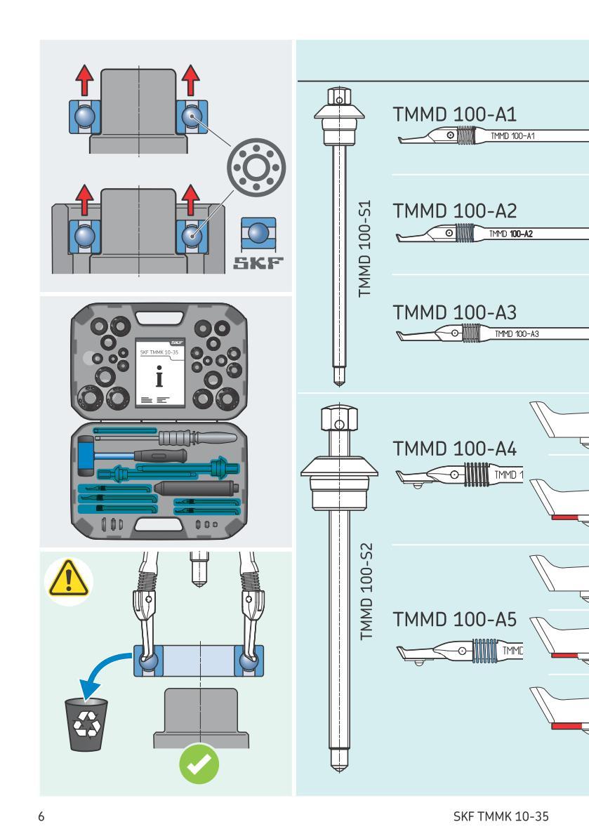 Extraction de roulement par la cage (+ la bague interne) Uw613