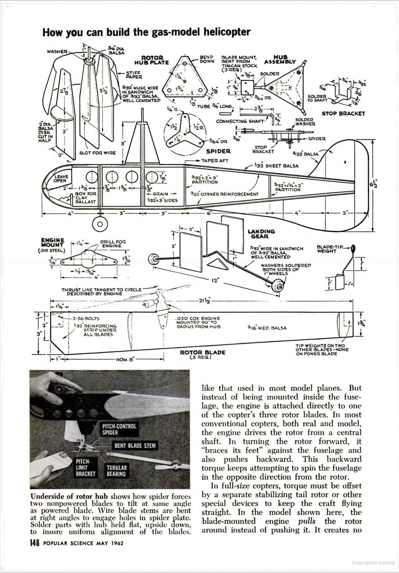 New Model Helicopter - 1962 Cox_he11