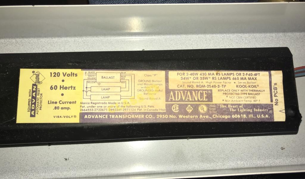 Preheat ballast for two (2) 40 watt T12 lamps Img_2314