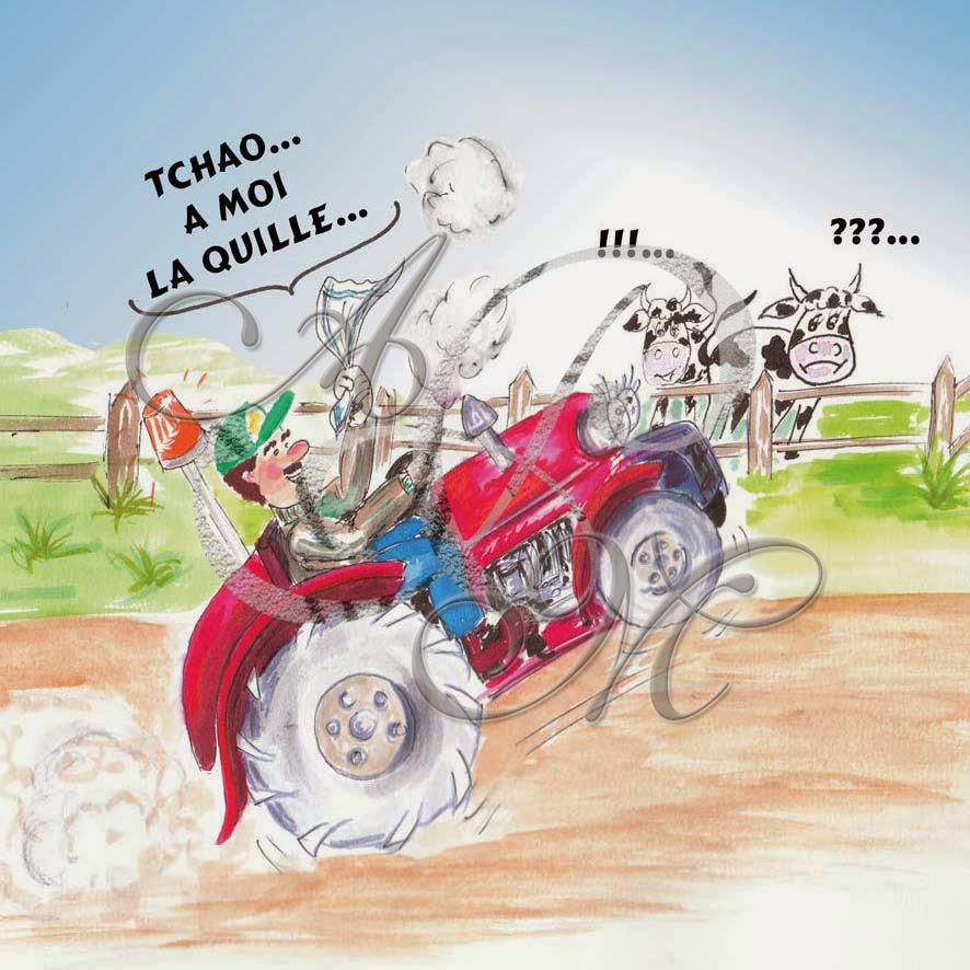 dessin pour invitation retraite agricole Dessin11