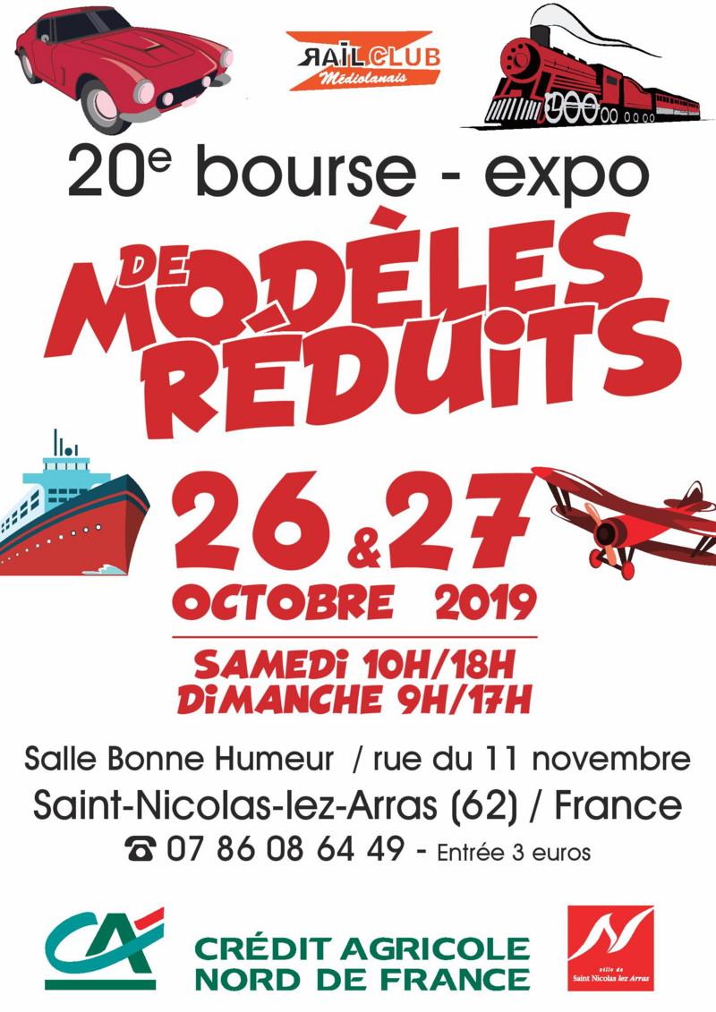 Expo-bourse Saint-Nicolas-lez-Arras (62) 26 et 27 octobre 19 Affich10